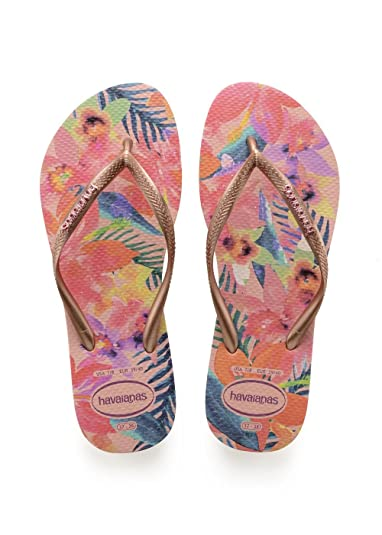 Havaianas Women s Slim Tropical Flip Flops Ballet Rose 1 5 UK 35 36