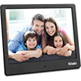 Digital Picture Frame 8 Inch Remote Control 1024768 Digital Photo Frame Support Picture/Video/Calendar/Clock Maximum Extend to 256G BSIMB Black