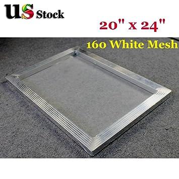 """20/"""" x 24/"""" 355 Yellow Hi Tension Mesh Professional Aluminum Screen Printing Frame"""