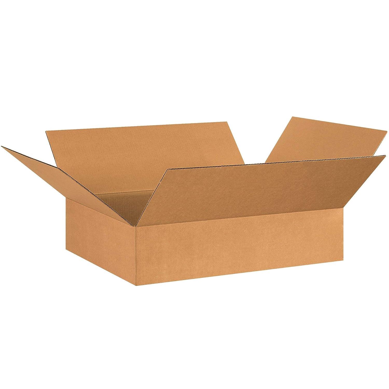 BOX USA B17176 Flat Corrugated Boxes Kraft Renewed Pack of 20 17L x 17W x 6H