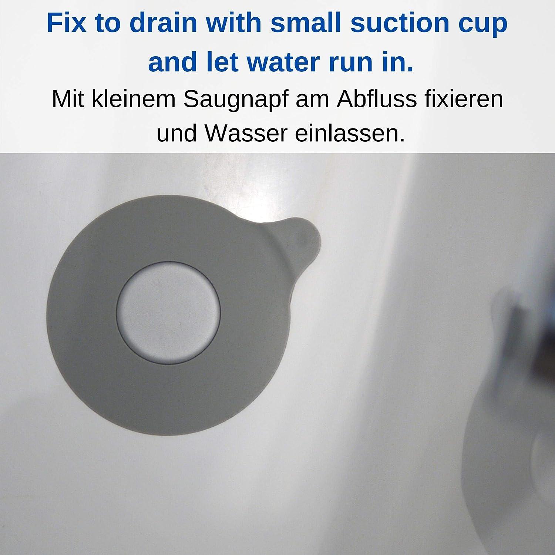 la ducha y el fregadero de la cocina para agujeros de desag/üe de hasta 120 mm Tap/ón de Drenaje desmontable 15 cm de di/ámetro Tap/ón Universal de silicona para el desag/üe de la ba/ñera