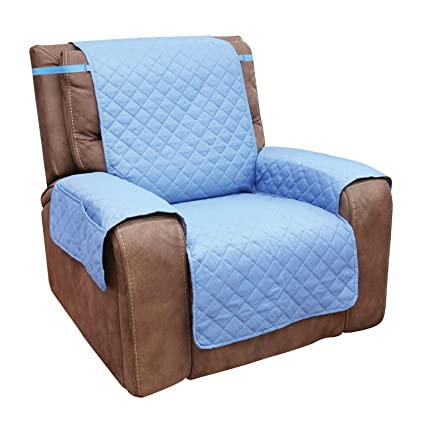 Strange Home District Reversible Quilted Microfiber Recliner Chair Cover Slate Blue Creativecarmelina Interior Chair Design Creativecarmelinacom