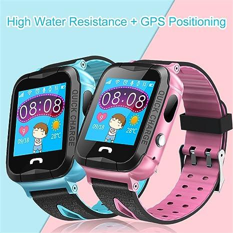 Pueri Smartwatch para Niños Relojes Inteligente Resiste Agua con Pantalla Táctil y Posicionamiento GPS Juguetes Infantiles