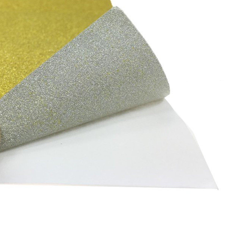 10 pz Carta Glitter Adesiva Carte Colorate Adesive Fogli Colorati Adesivi A4 Carta Glitter Adesivi per Lavoretti Cartoncini Glitter Adesivi A4 Carta Glitterata Rosso