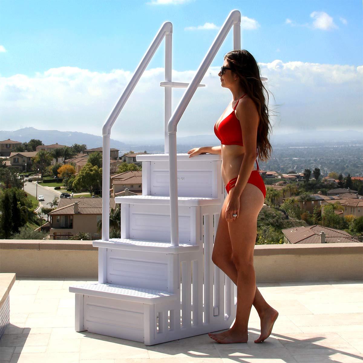 XtremepowerUS 75137-1 Pool Ladder, White by XtremepowerUS