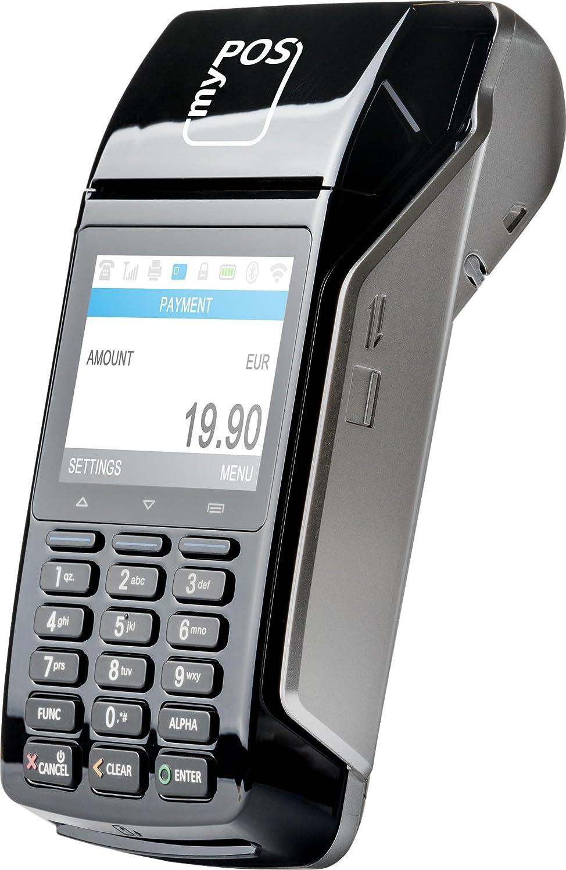 MyPOS Combo (Black) terminal de POS portátil con impresora para todos los tipos de tarjetas viene con un completo kit de pago en línea + tarjeta de débito gratis y EU IBAN