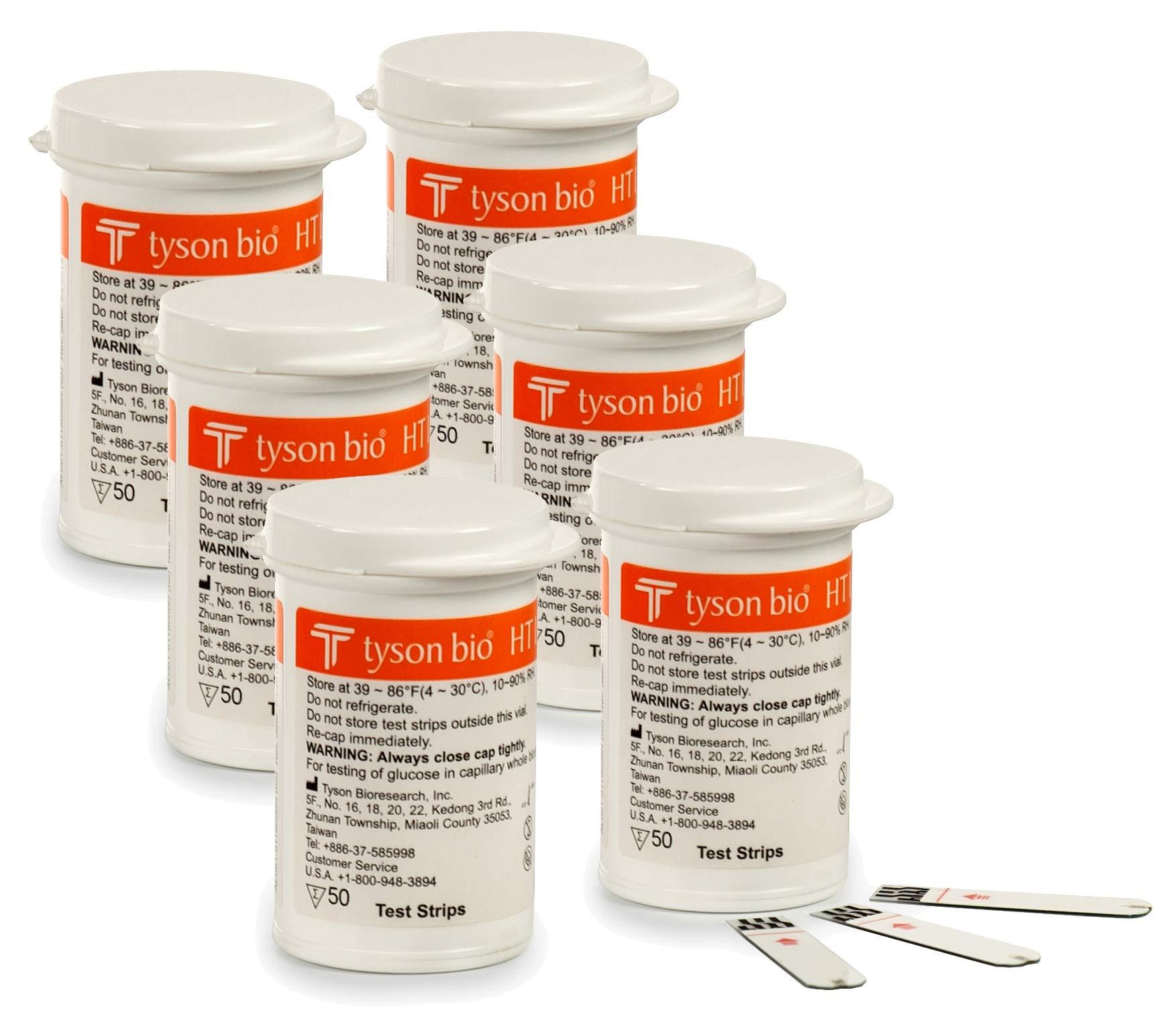 O'Well Tyson Bio HT100 Blood Glucose Test Strips, 300 Count