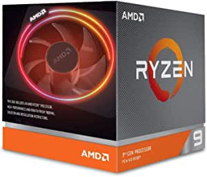 AMD Ryzen 9 3900X 3.8 GHz 12-Core AM4 Processor with Wraith Prism Cooler, 100-100000023BOX