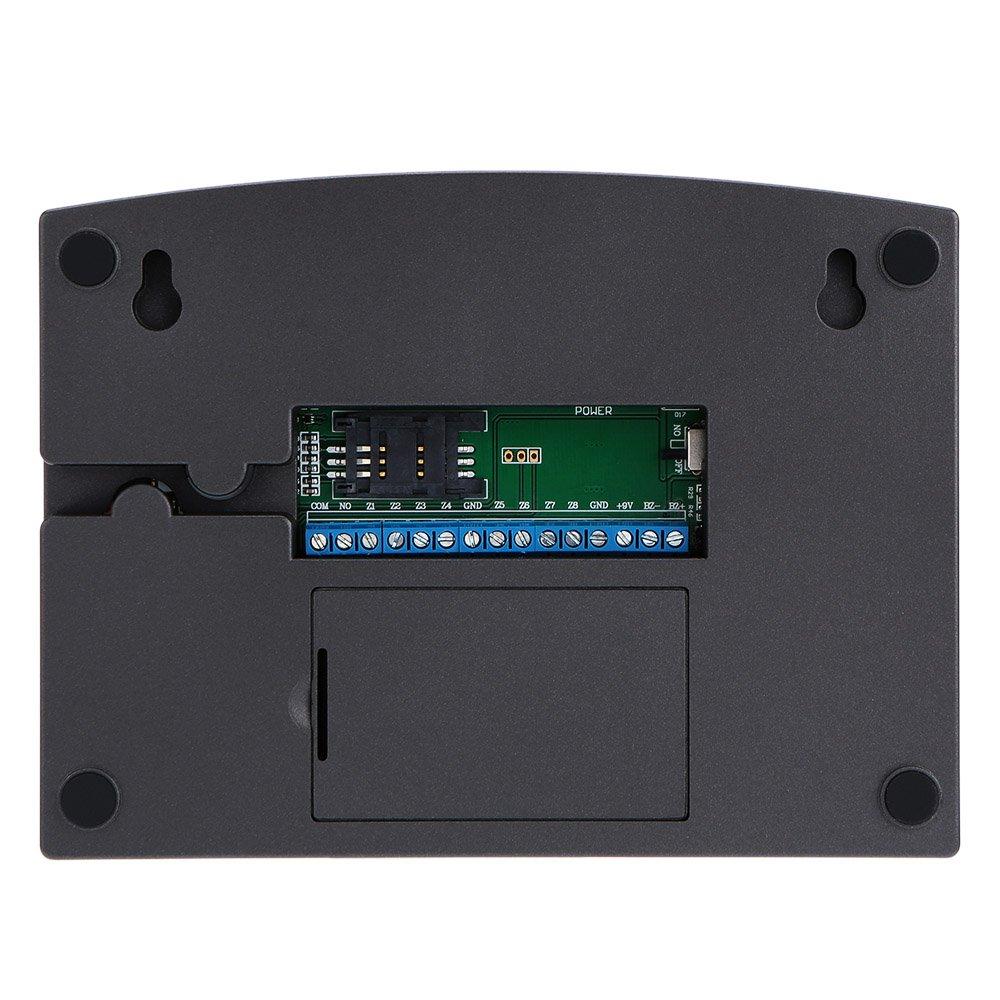 KKmoon Alarma GSM SMS Inalámbrica 99 Zonas 433MHz Antirrobo Sistema de Seguridad Detector con Sensor de Movimiento PIR Puerta Control Remoto