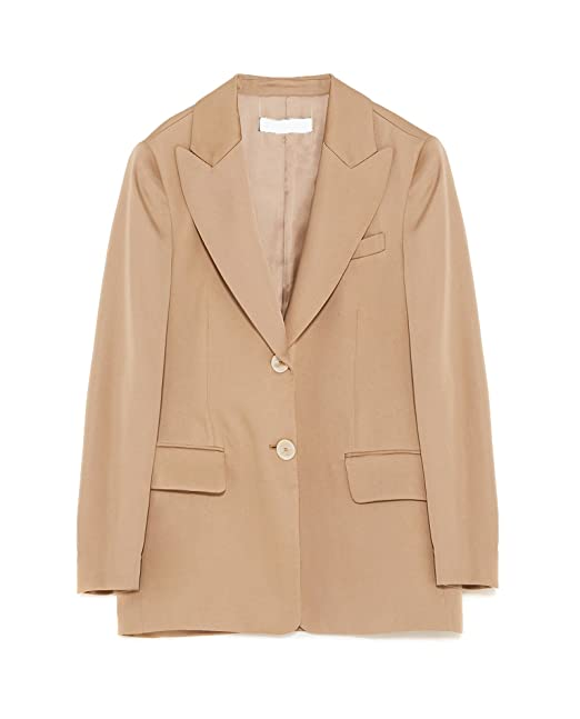 Zara - Chaqueta de traje - para mujer Beige beige S: Amazon ...