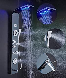 ELLOu0026ALLO LED Shower Panel Tower System, Rainfall And Mist ...