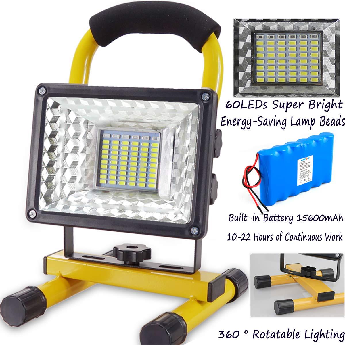 Foco LED Resistente Al Agua Led Foco Proyector Portatil 400W 8000 Lumen Terraza Pescado Bater/ías Recargables Incorporadas 7800 Mah,Carga USB Luz de Trabajo Led Recargable, con Control Remoto