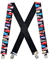 Suspender Store Mens Class of 57 Car Clip-End Novelty Suspenders (3 Sizes)