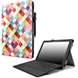 """Infiland Lenovo Miix 510 Case, Premium PU Leather Stand Cover Case for Lenovo Miix 510 12.2"""" 2-in-1 Laptop Tablet, Magenta"""