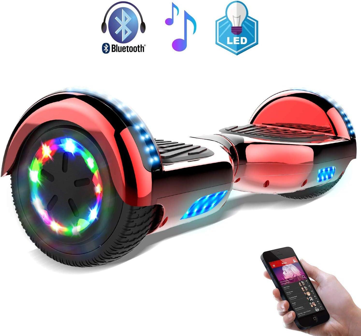 RCB Hoverboard Gyropode /électrique Hoverboard Auto-Equilibr/é Scooter Electrique 6,5 Pouces avec LED Hoverkart Accesoires pour Gyropode Cadeau pour Enfants et Ados