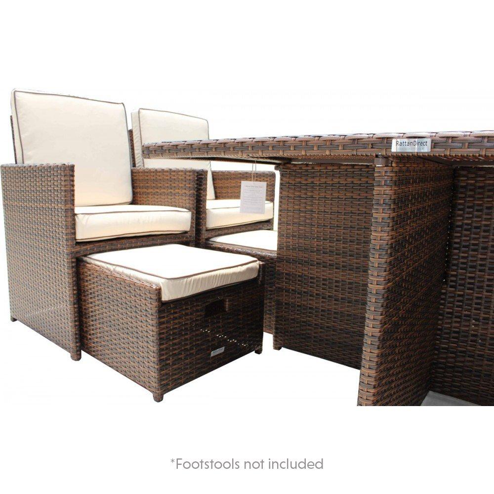 Amazon.de: Outdoor Rattan Möbel Barcelona 5 Stück Garten Cube Set