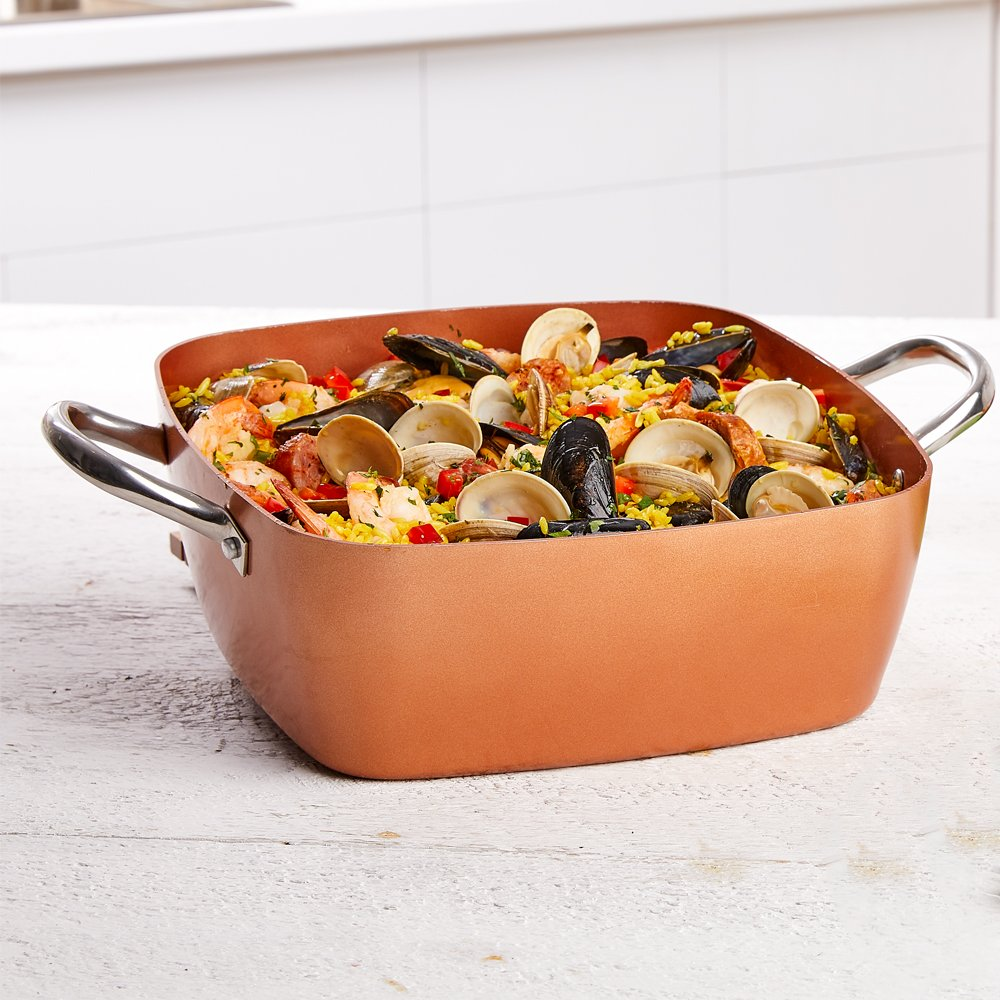 Copper Chef 8''/11'' Deep Dish Pan 4 Pc Set by Copper Chef (Image #3)