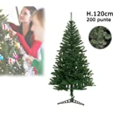 Albero di Natale artificiale 120 cm con 200 punte rami folti PINO DELLE SORPRESE. MWS