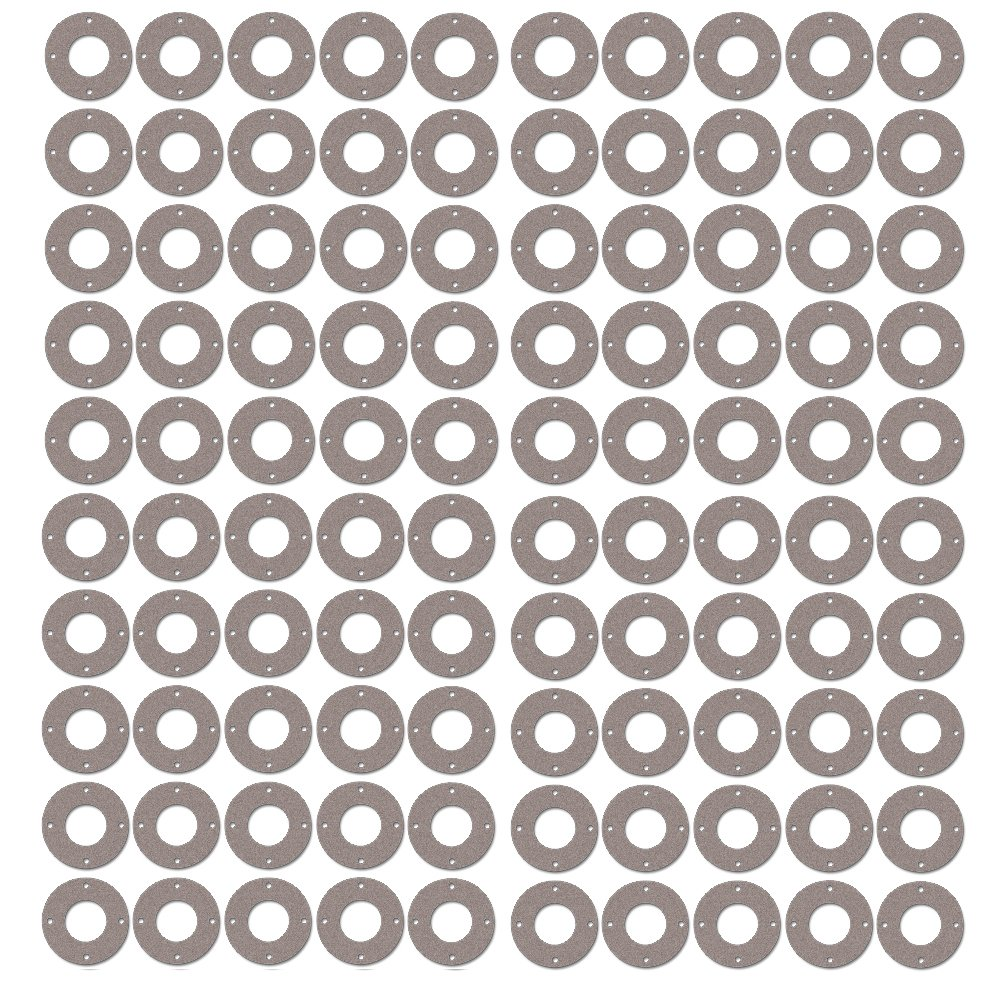 Pressure Class 300# 3//4 Pipe Size 1.06 ID 1//8 Thick Sterling Seal CFF7540.750.125.300X100 7540 Vegetable Fiber Full Face Gasket Pack of 100