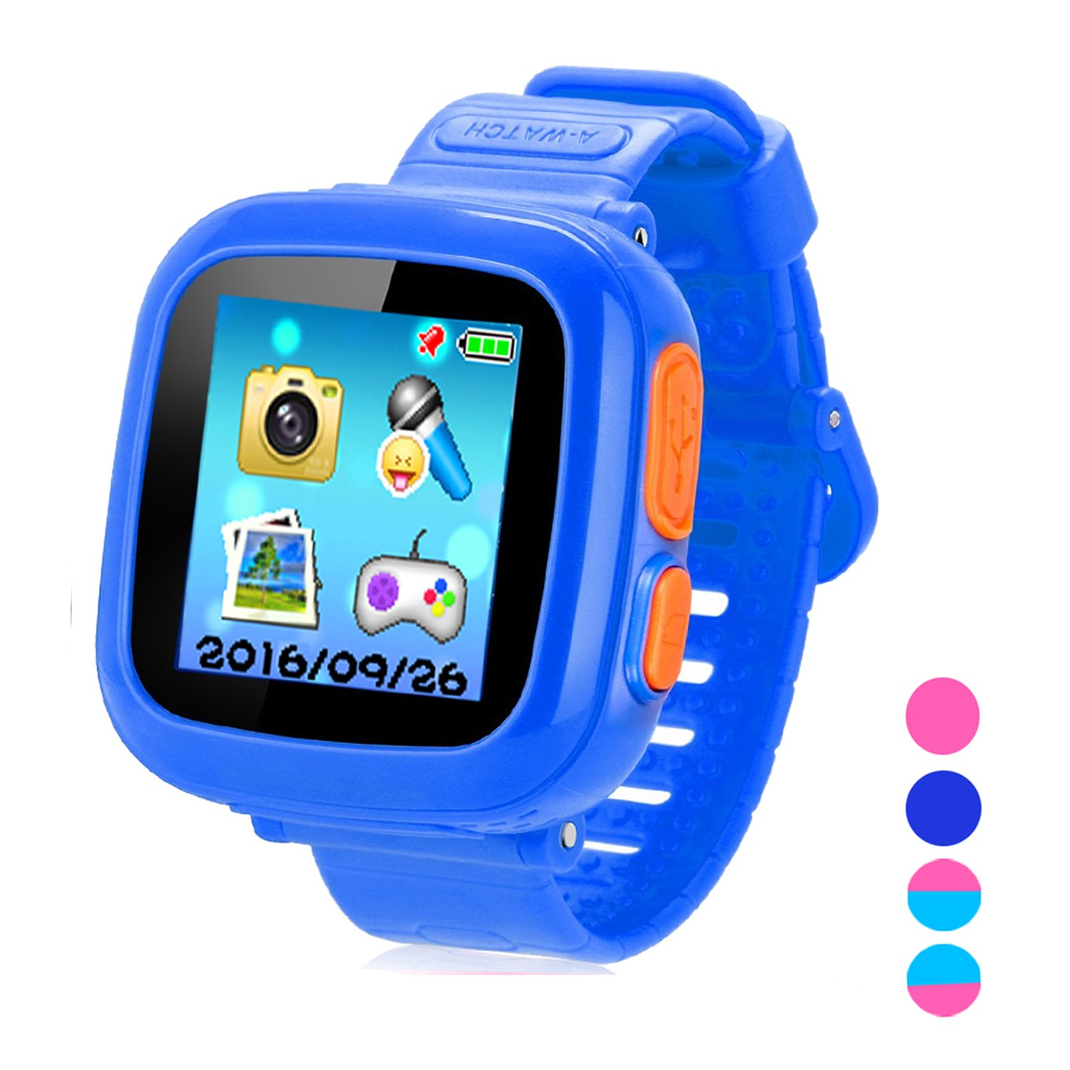 Smart Watch for Kids Girls Boys,Smart Game Watch with Camera Touch Screen Pedometer,Kids Smart watch Perfect Holiday Birthday Toys Gifts (Dark Blue)