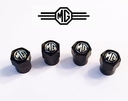 Negro MG tapones para válvula de rueda. MGB, Spitfire, Midget, MGA,