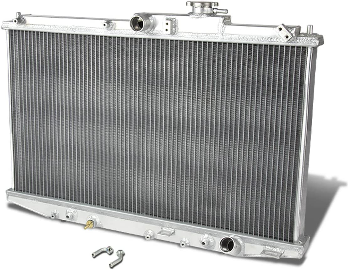 DNA Motoring RA+FS-HC92-42-2 2-Row Radiator with Fan Shroud