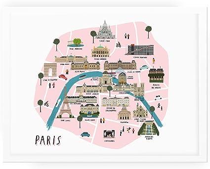 Cartina Politica Di Parigi.Alex Foster Illustrazione La Mappa Di Parigi Amazon It Cancelleria E Prodotti Per Ufficio