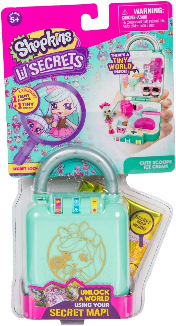Shopkins Lil' Secrets Shop 'n' Lock Cute Scoops Ice Cream Shop