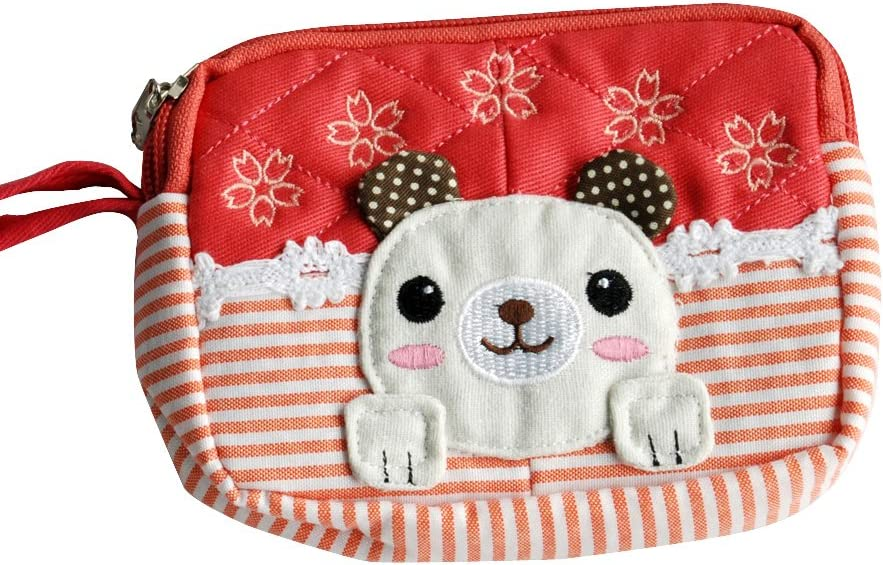Embroidered Applique Wallet Purse Pouch 5.13.91.1 Energetic Dog