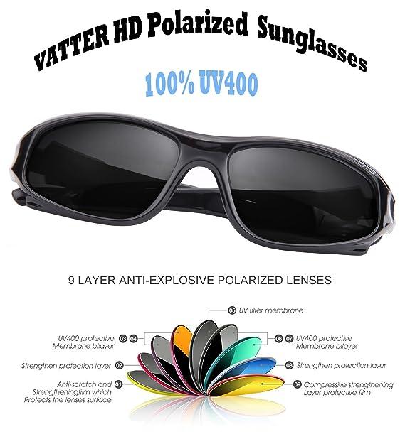 Amazon.com: Vatter TR90 - Lentes de sol polarizados ...