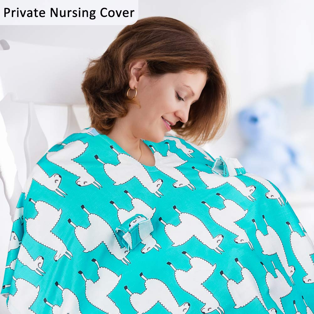 Alpaca-Green MHJY Carseat Canopy Cover Nursing Cover Cotton Breathable Carseat Cover Breastfeeding Cover for Boy Girl Baby Shower Gift for Breastfeeding Moms