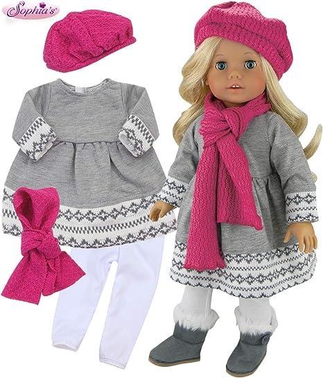 "Doll Clothes 18/"" Sophia Lemonade 9 Piece Set Sized For American Girl Dolls"