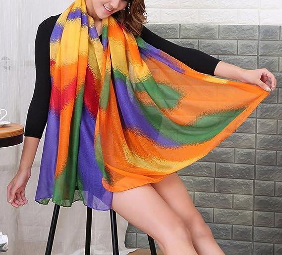 1d4529ca7281 Bigood Femme Châle 180 90cm Doux Écharpe Vogue Plage Foulard en Voile  Casual Bleu  Amazon.fr  Vêtements et accessoires