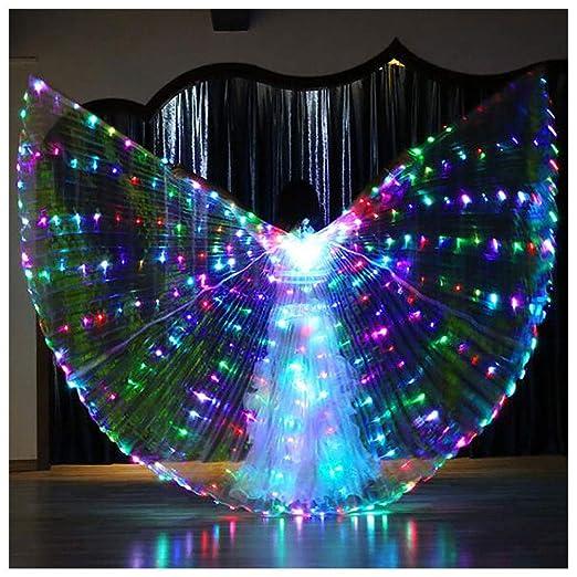 Alas de Color LED Alas de Danza, Danza del Vientre con alas ...