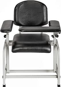 AdirMed Padded Blood Drawing Chair (Black)