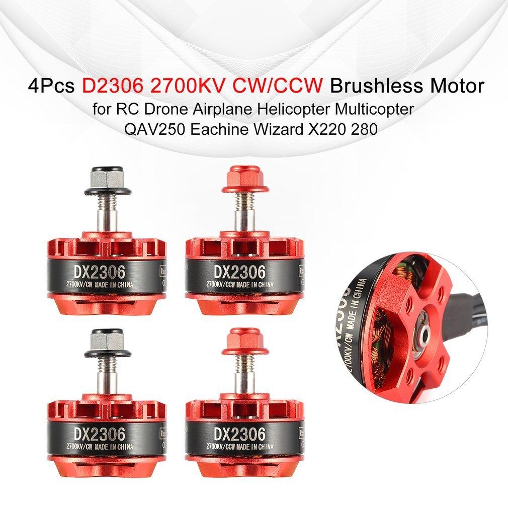 4 Paquetes】 D2306 2306 2700KV 2-4S CW / CCW Motor sin escobillas ...