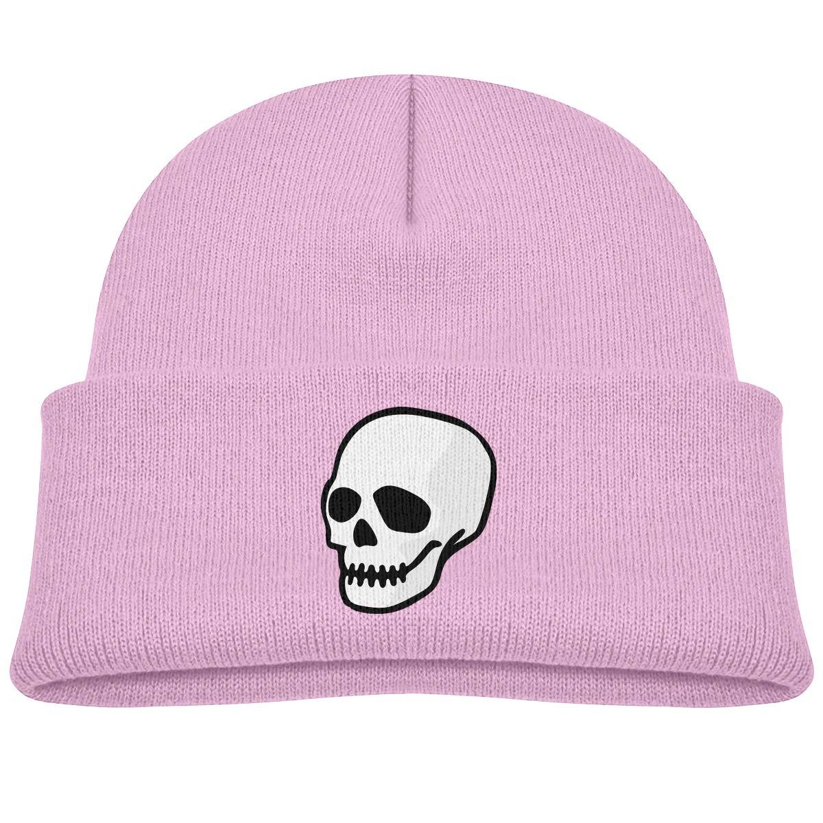 Infant Toddler Baby Kids Knitted Beanies Hat Sugar Skull Winter Hat Knitted Skull Cap for Boys Girls Gray