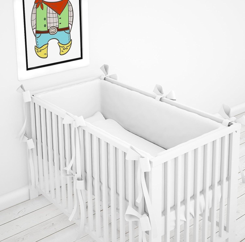 Bettumrandung Nestchen Kopfschutz Kantenschutz 360° für Babybett 60x120 ELFIQUE