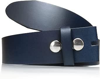 almela - Cinturón hombre y mujer sin hebilla - Hebillas intercambiables - 3,5 cm y 4 cm - Piel legitima - 35mm y 40mm - Cuero - Broches a presión.