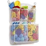 Tenrai Mesh Bath Toy Organizer, 4 Ultra Strong Hooks, Bathtub Storage Bag, Multi-Purpose Baby Toys Net, Toddler Shower…