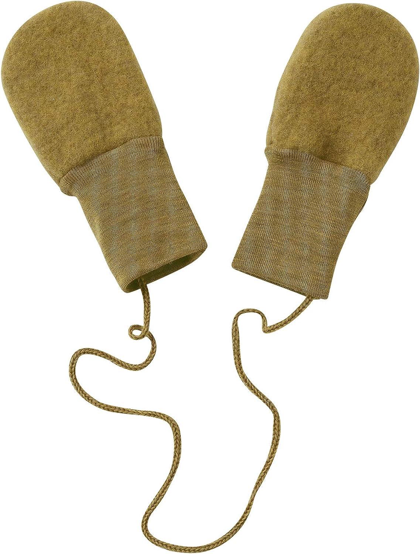 Baby-Handschuhe aus 100/% Bio-Merino-Schurwolle Engel Natur Baby-F/äustel