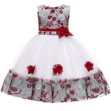 fc0d12d56e18f Amazon.com: 2019 Summer Party Princess Dress Girl Wedding Kids ...