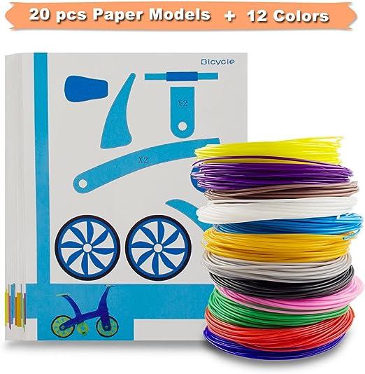 SHONCO 3D Filamento PLA 1.75mm 12PCS Materiales de Impresión 3D de ...