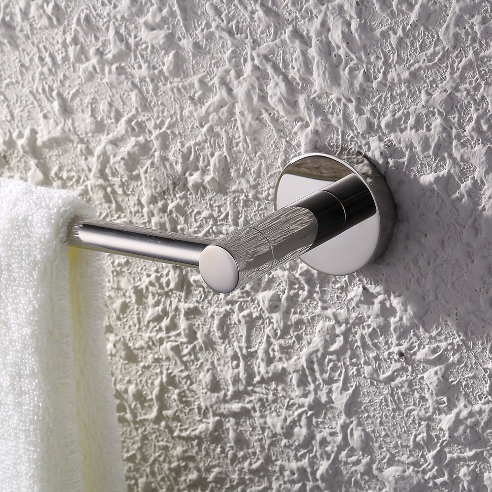 KES Single Towel Bar for Bathroom (22 3/8 Inch Chrome) Wall Mounted SUS304 Stainless Steel, A2100