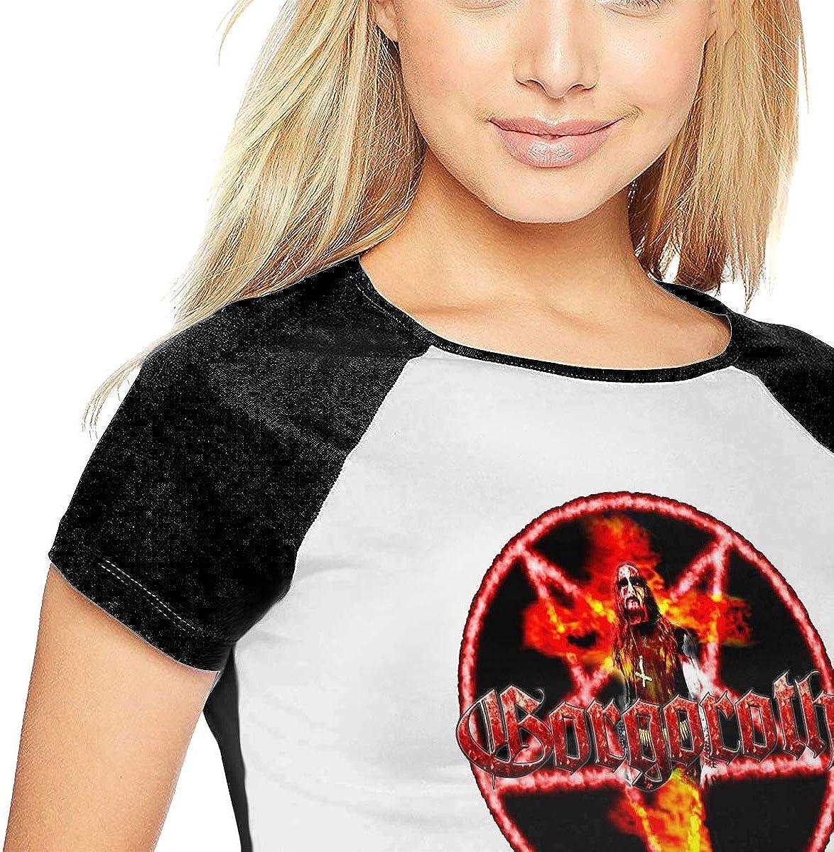 DaihAnle Gorgoroth Womens Individuality Fashion Baseball Short Sleeve Round Neck Print T-Shirt