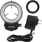 AmScope–led-144b-zk 144LED ajustable Microscopio compacto anillo de luz + adaptador con acabado en negro
