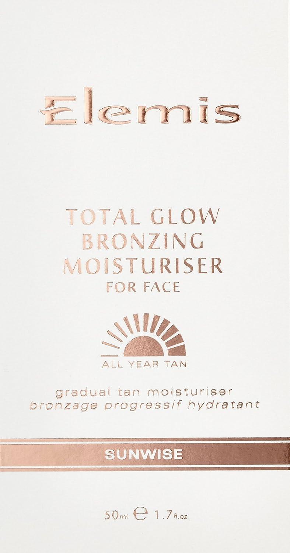 Elemis Total Glow Bronzing Moisturiser for Face, Gradual Tan Face Moisturiser, 50 ml 00227