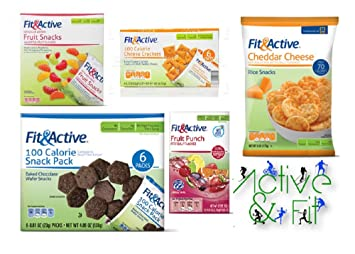 Fit & Active Fat Free Low-Carb Snacks Delicious Variety Mix Lot ...