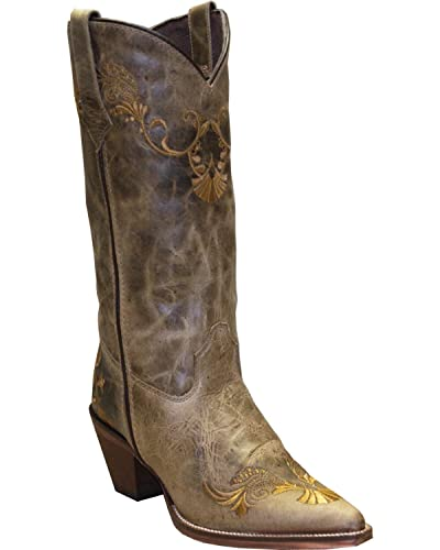 Women's Rawhide By Boot Embroidered Western Pointed Toe Tan