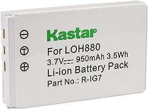 Kastar LOH880 Battery for Logitech R-IG7, Harmony One Harmony 720 850 880 885 880 Pro 890 Pro 900 Logitech 190304-0000 815-000037 AVL300s K43D M36B M41B 866165 866145 866207 AVL300 MCC AV100